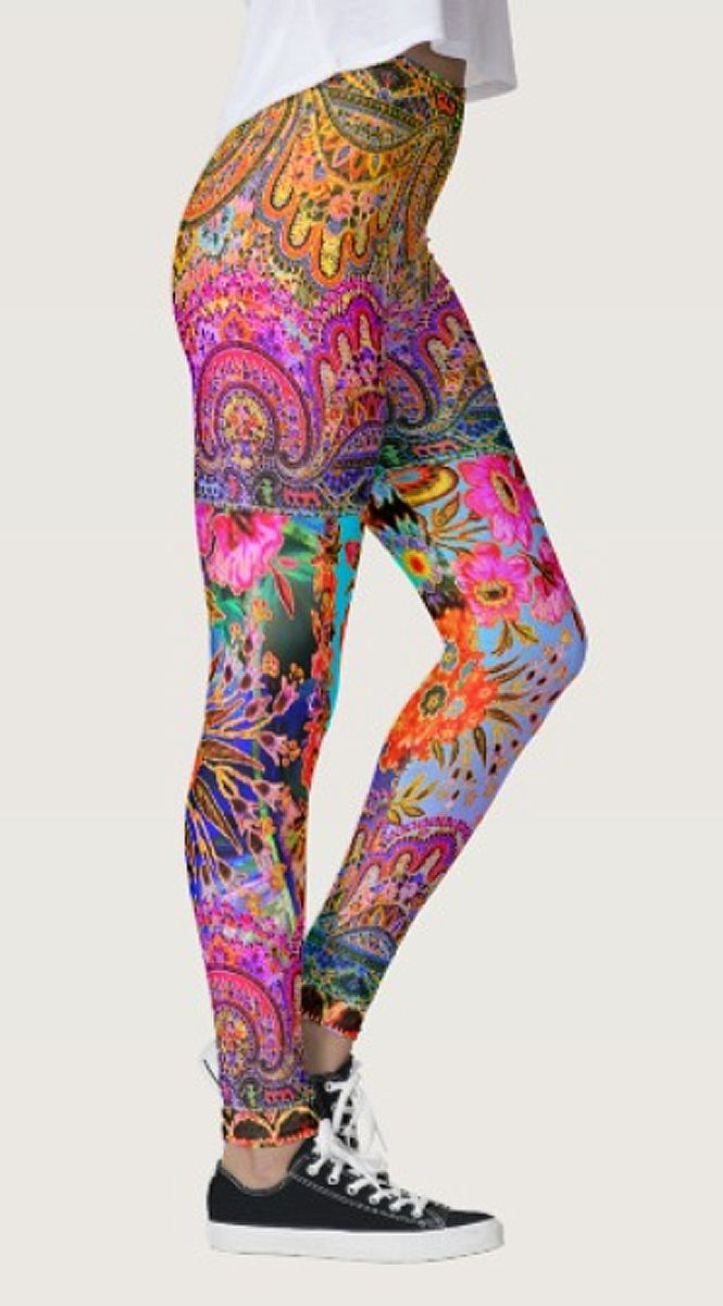 Boho Caravan Floral Leggings by NDGRags on Zazzle. Lovely.