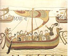 In 1064, the Count Harold arrives after drifting currents on Count Guy of Ponthieu land - stage 38.