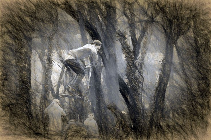 Sporty Boy Art ArtWork Boy Classic Kid Nature No People Outdoors Pencil Pencil Art Pencil Drawing Retro Retro Style Retro Styled Scooter Scratch Sport Sports Photography Sporty Tree Vitage