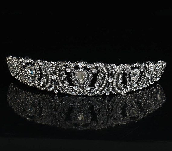 This sparkling Luisa crown is elegant and beautiful. Made with clear Cubic Zirconia. Inspired by royal crown jewels. A truly amazing piece. All sales final.