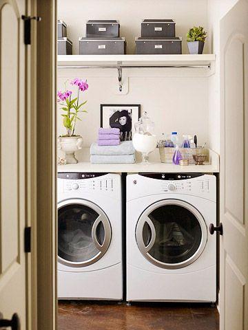 Laundry Room StorageDecor,  Automatic Washer, S'Mores Bar,  Wash Machine, Laundry Closets, Room Ideas, Laundry Area, Laundry Rooms, Laundryroom