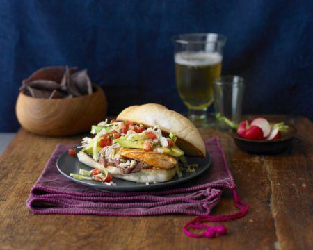 Overstuffed Chicken Sandwiches (Tortas de Pollo) Recipe