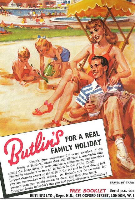 Advertisement for Butlin's Holiday Camp from Lilliput magazine, April-May 1952. by totallymystified, via Flickr