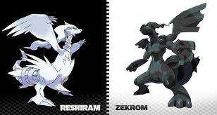 Resultado de imagen para pokemon blanco y negro legendarios