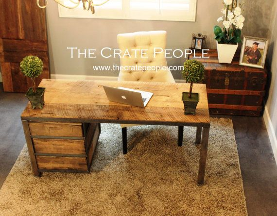 FREE SHIPPING - The Crate Desk | Vintage Wood Crates and Reclaimed Barn Wood…