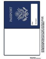 """Printable passport. Great for Christmas Around the World. Stamp the passport as each country is """"visited."""""""
