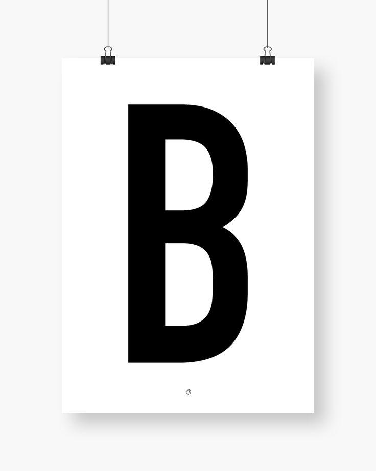 Big & Bold B #typography #typographyposter #letterposter #minimalistisk #minimalisticposter #cleanposter #enkontrast #enkontrastposter
