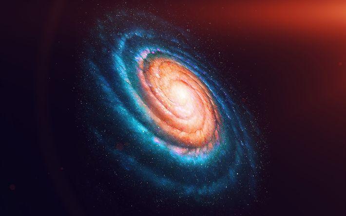 Hämta bilder constellation, 4k, galaxy, solförmörkelse, stjärnor, nebulosan