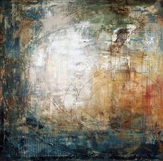 blue rusty - quadro abstrato pintura