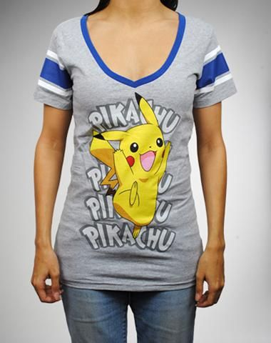 Pokemon Pikachu Hockey Tee. And this. Pikachu is adorable and he should be  on