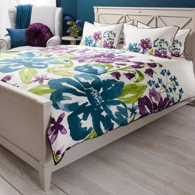 Isabella Purple Floral Quilt Cover Set - Starting from £55 | brandinteriors.co.uk