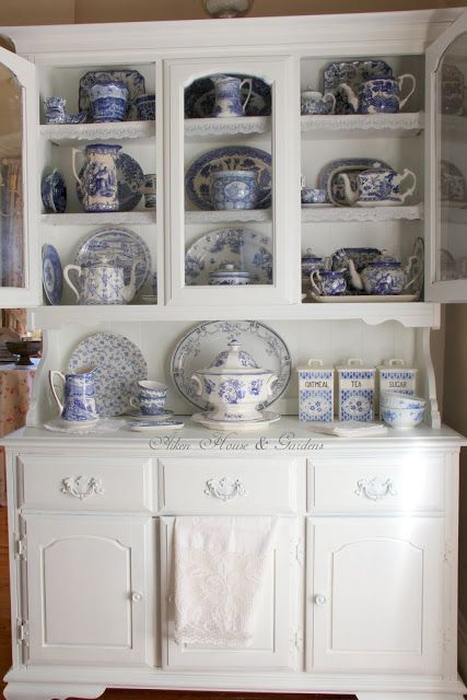 Aiken House & Gardens: Cupboard Makeover for my Transferware Dishes