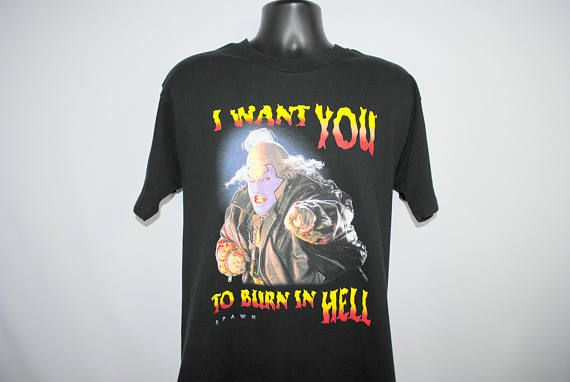 1997 Spawn RARE Vintage I Want YOU To Burn in HELL Clown The