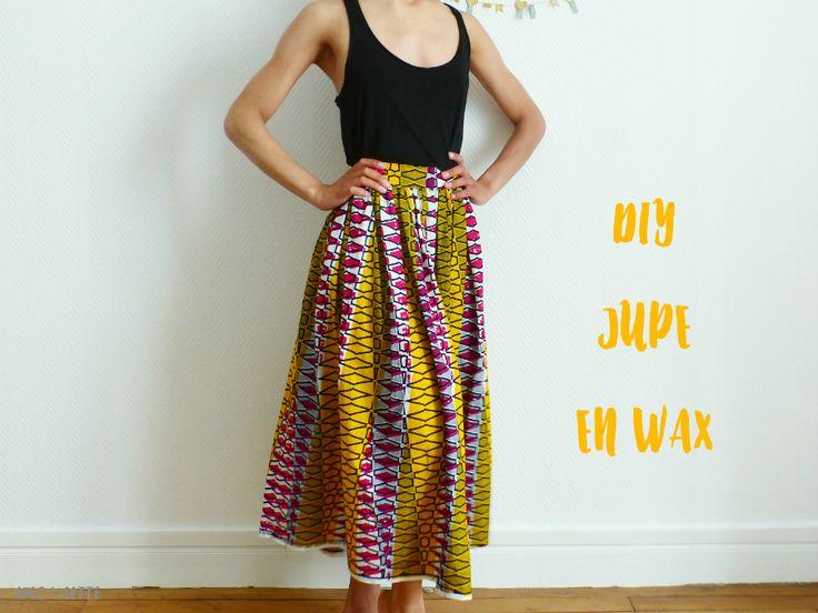 Pour les beaux jours, rien de tel qu'un DIY jupe en wax vitaminé ! Réalisez une jupe midi avec ce tuto, et ajoutez du peps' dans votre garde-robe.