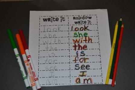 Writing Center, Rainbow Writing