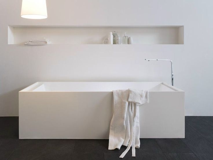 Rectangular Corian® bathtub RETTANGOLO CORIAN by Arlex