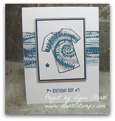 Stampin'Up! Custom Tee bundle and Tie Dyed stamp sets http://www.starzlstamps.com/2017/01/tie-dyed-stamp-set-custom-tee-stamp-set.html