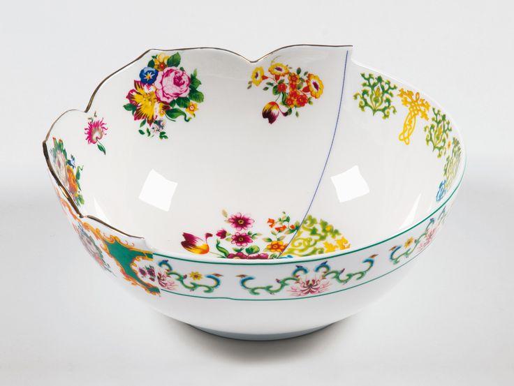 Hybrid Zaira Porcelain Salad Bowl design by Seletti