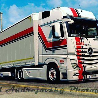 Zas jedna z ETS2. Diky @davidandrejovsky! #mosslogistics #moss #eurotrucksimulator2 #virtualnijezdeni #dobrapruprava #mercedesbenz #truck #trucking #virtualtrucking