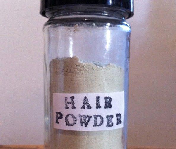 DIY Organic Dry Shampoo  - Araruta em pó (2tbl) - Caulim ou argila da China (2Tbl) - Pó de cavalinha (1Tsp)