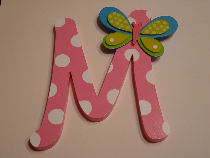 Custom Creative Hand Painted Wooden Letters (not printed). $14.00, via Etsy.