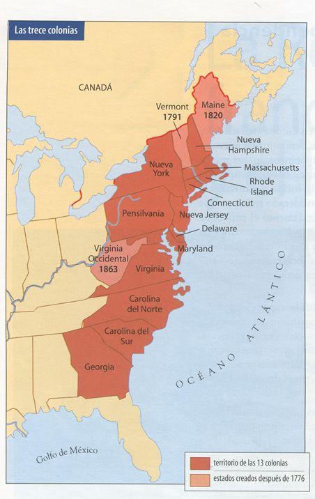 Mapa de las 13 colonias