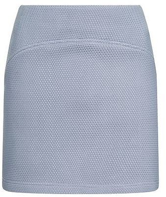 Womens light blue grey punch textured pelmet skirt from Topshop - £36 at ClothingByColour.com