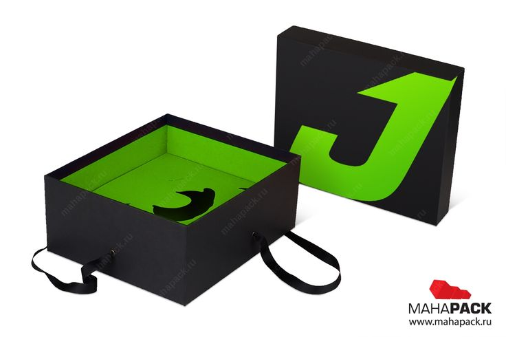 Подарочная коробка крышка-дно с ручками для посуды под заказ   Mahapack.ru - изготовление индивидуальной упаковки