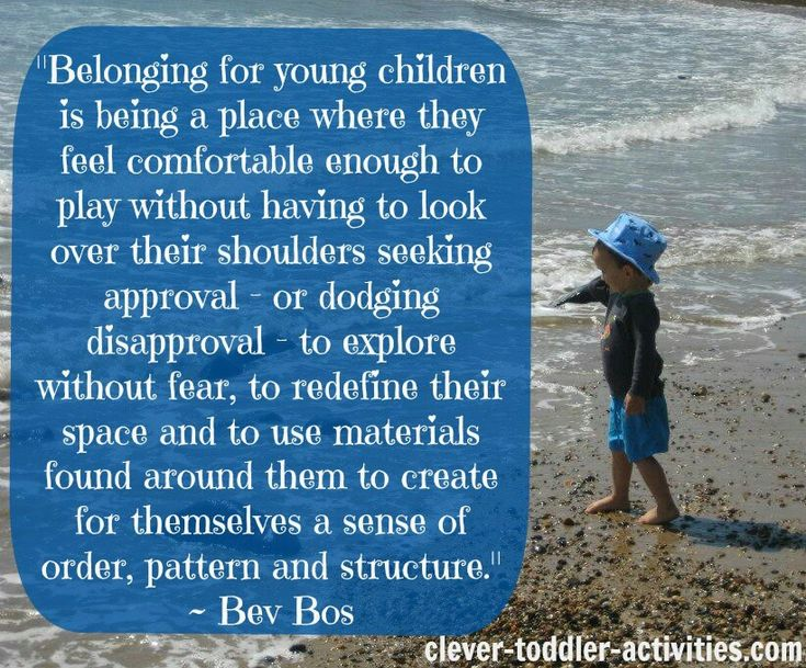 What a sense of belonging looks like for young children.