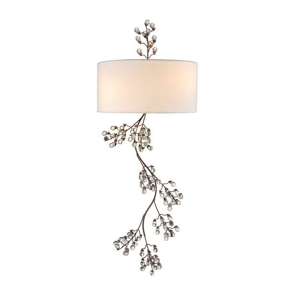 Elk Winterberry 2-light  Wall Sconce in Antique Darkwood