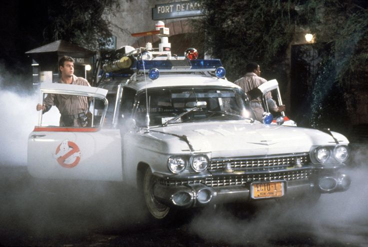 Ghostbusters number plate ECTO.1 on the Ectomobile
