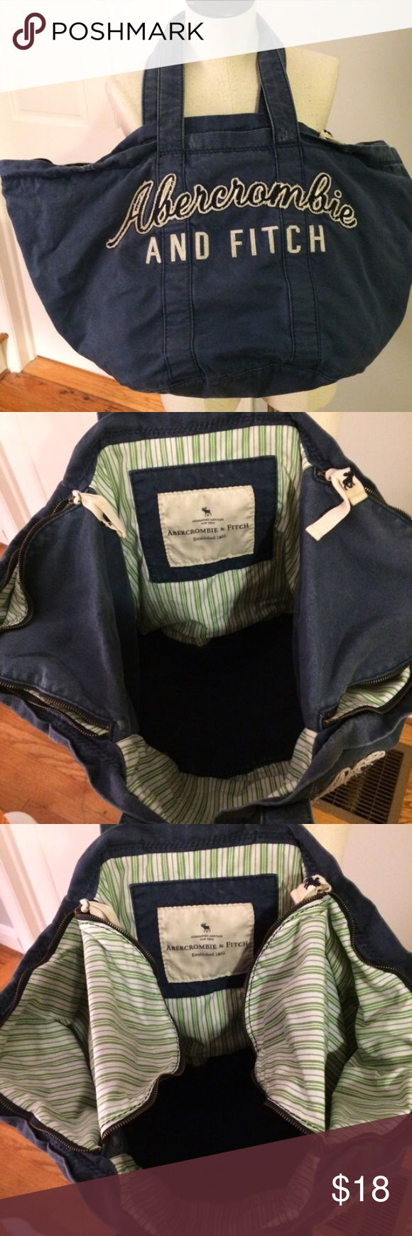 ✅5 for $35 Large Abercrombie and Fitch tote bag Large Abercrombie and Fitch tote bag Abercrombie & Fitch Bags Totes