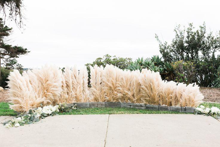 @elatephoto @flowersalacarte #pampasgrass #altararrangement #uniquealtar #customaltar #flowersalacarte #lajolla #martinjohnsonhouse