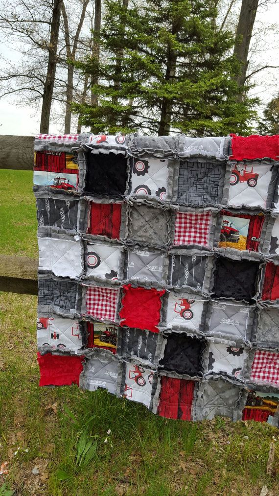 Case IH Inspired Baby Rag Quilt Case International by OCKBaby