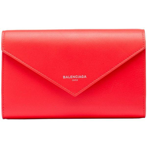 Balenciaga Papier Money Zip Around ($565) ❤ liked on Polyvore featuring bags, handbags, clutches, balenciaga, flap handbags, snap purse, balenciaga handbags and balenciaga purse