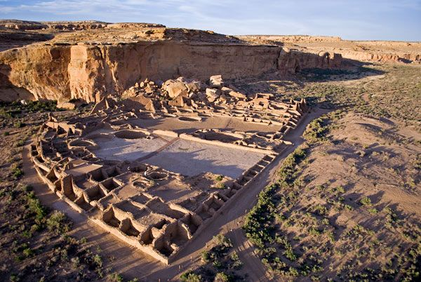 Anasazi ruins, Chaco Canyon, New Mexico