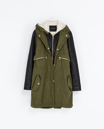 Image 6 of FAUX LEATHER PARKA from Zara