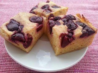 Zdravá máma: Tvarohový koláč s ovocem