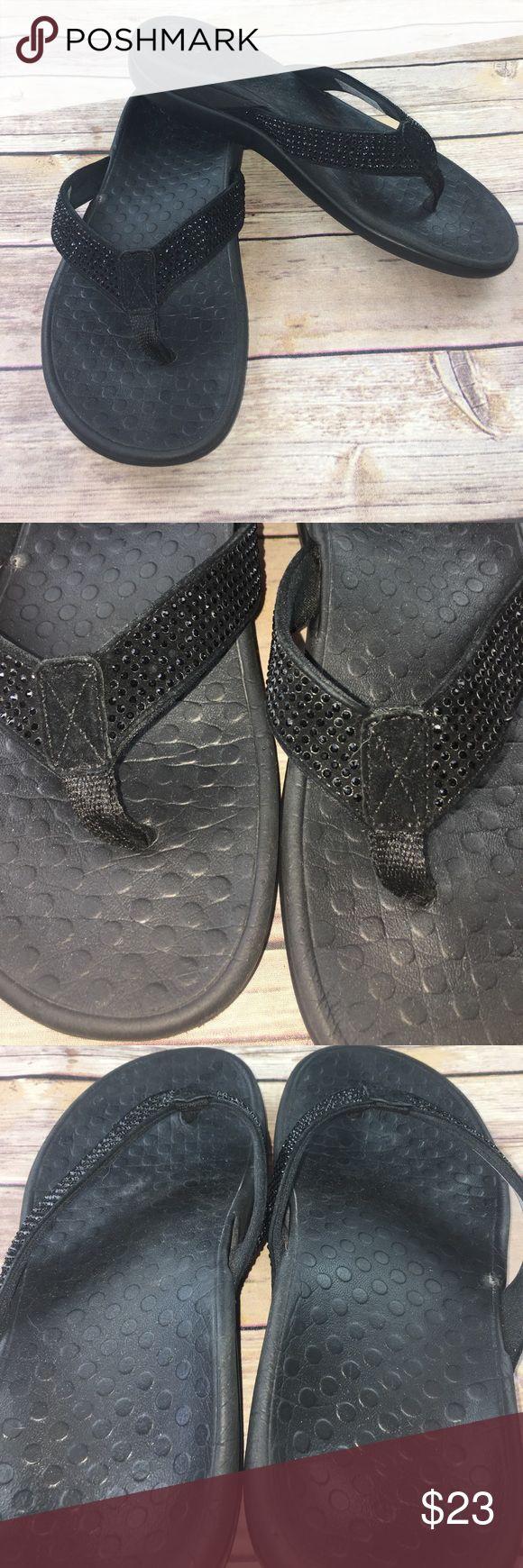 Vionic sparkly flip flops Super comfortable, still have a lot of life left! orthoheel Shoes