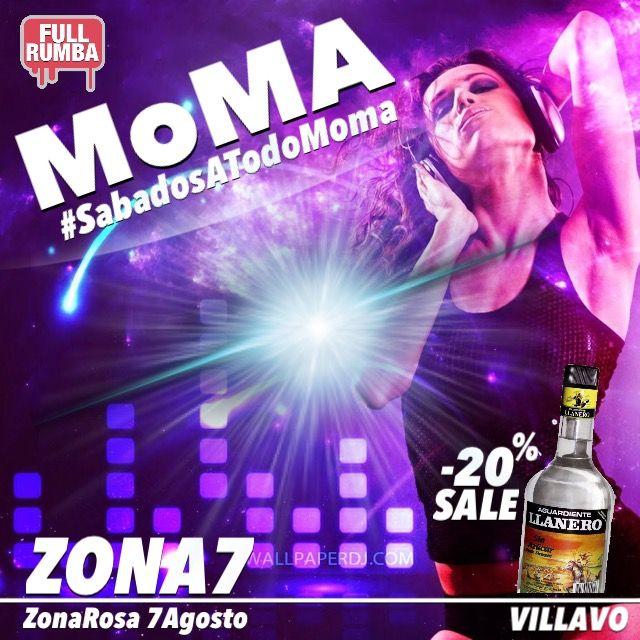 MoMA BAR ...no es más de lo mismo. #FullRumba hasta las 6AM. Los sábados son con descuento por qué son #SabadosATodoMoma ~>hoy descuento del -20% en Guaro LL.