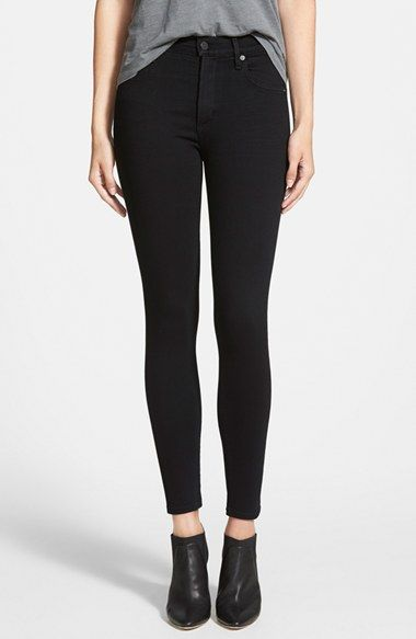 Free shipping and returns on Citizens of Humanity 'Rocket' Skinny Jeans (Axel) (Petite) at Nordstrom.com. Tonal topstitching and gleaming silvertone hardware enhance the sleek factor of black jeans cut from Japanese denim in a lithe, ankle-brushing silhouette.