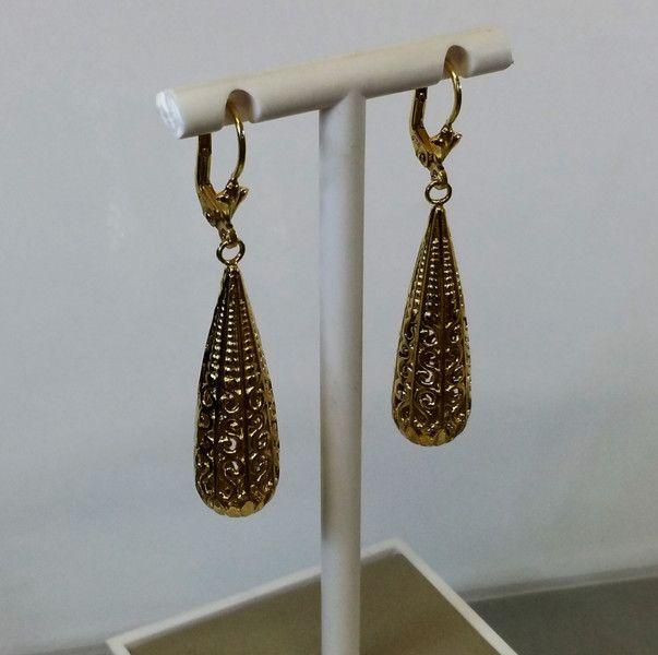Vintage Ohrhänger - Ohrringe Ohrhänger Silber 925 vergoldet rar SO200 - ein Designerstück von Atelier-Regina bei DaWanda