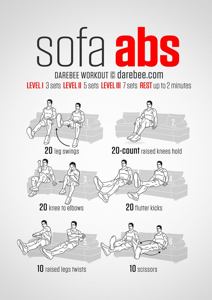 Even lounging on the couch can be an opportunity to exercise! - Sofa Abs Workout