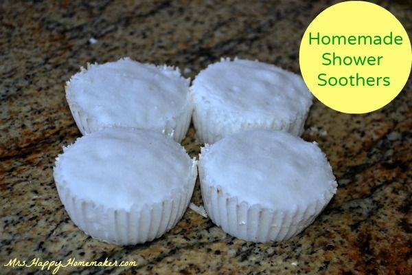 Homemade Shower Soothers - pop one in the bottom of a hot shower when you're feeling stuffy for some natural relief!