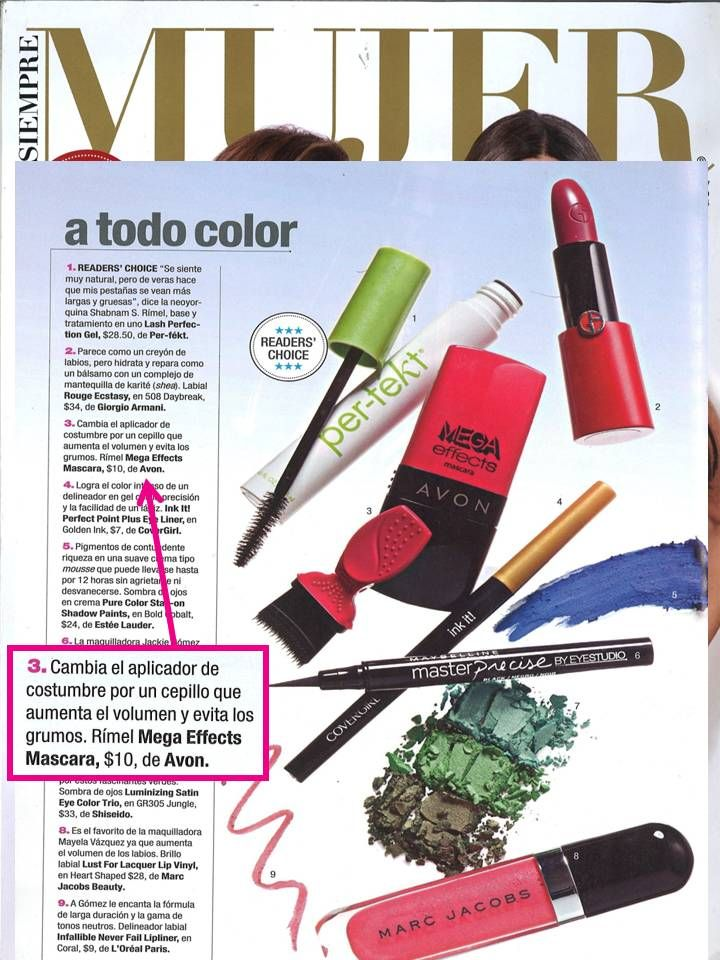@Siempre Mujer  names Avon #MegaEffects #Mascara as one of the 50 best beauty products of 2014!