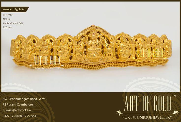Nakshi Lakshmi Vaddanam | Art of Gold Jewellery, Coimbatore