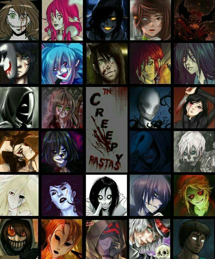 The Creepypastas, text; Creepypasta