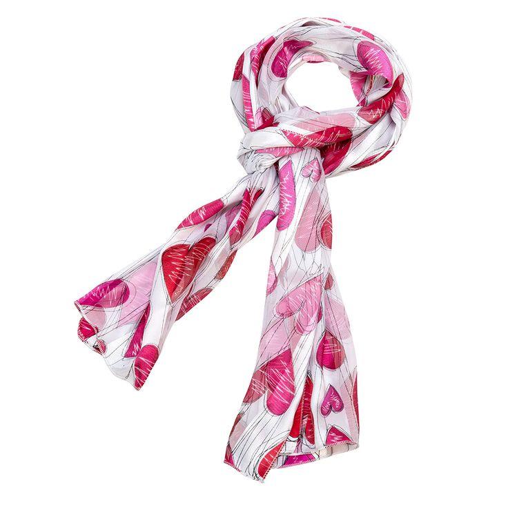 valentines day heart scarf white valentines scarves purple box jewelry