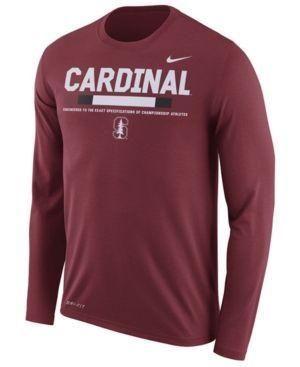 Nike Men's Stanford Cardinal Legend Sideline Long Sleeve T-Shirt - Red XXL