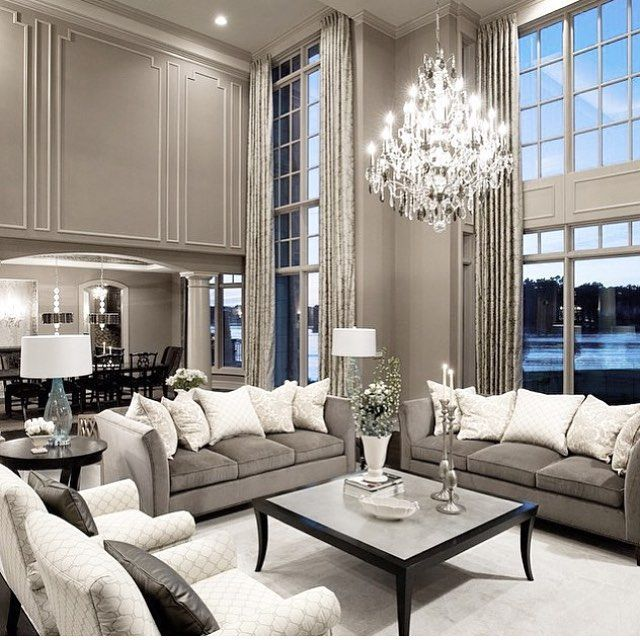 1000 ideas about luxury living rooms on pinterest White grey interior design